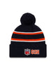 Chicago Bears New Era 2019 Thanksgiving NFL Sideline Official TD Knit Hat - Navy/Orange