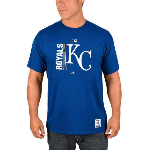 Men's MLB Kansas City Royals Majestic Royal Authentic Collection Team Icon T-Shirt