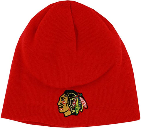 Men's Chicago Blackhawks Red Reebok Beanie