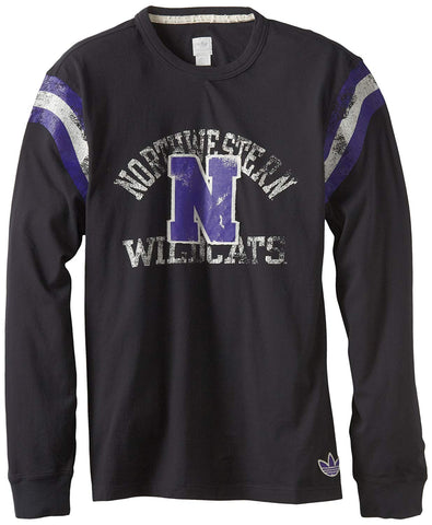 adidas NCAA Northwestern Wildcats Men's Originals Long Sleeve Applique Crew