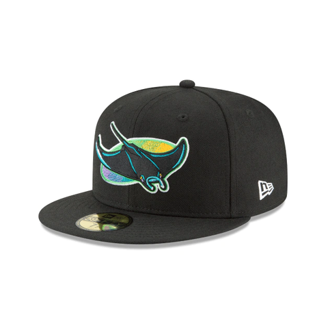 Men's Tampa Bay Devil Rays Cooperstown Collection Black 59Fifty Fitted Hat