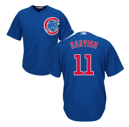 Men's Yu Darvish Chicago Cubs Majestic Royal Cool Base Custom Jersey