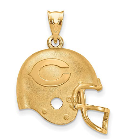 NFL 10K Gold Plated Chicago Bears Helmet Pendant