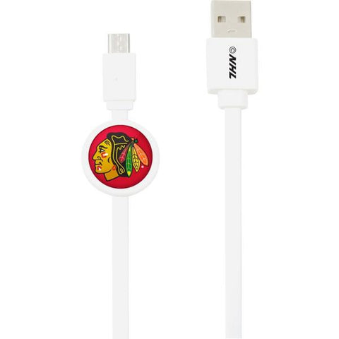 Mizco NHL Chicago Blackhawks Micro USB to USB Charge and Sync Cable