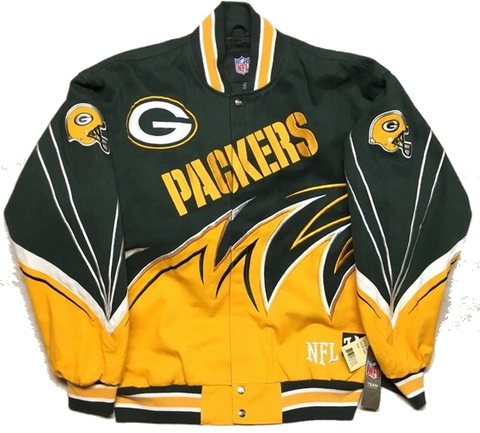 Green Bay Packers Vintage Shark Tooth Button Down Jacket