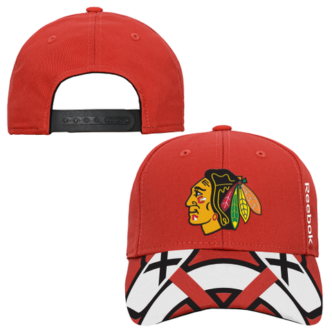 Youth Chicago Blackhawks Locker Room Red Adjustable Hat