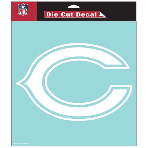 Chicago Bears 8X8 Perfect Cut White Decal by Wincraft