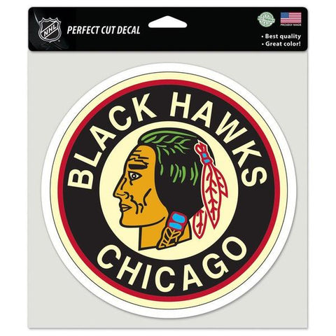 Chicago Blackhawks Vintage 1934 Logo 8X8 Perfect Cut Decal