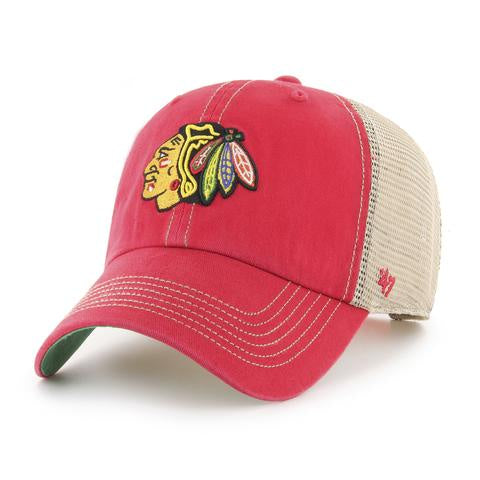 '47 Brand NHL Chicago Blackhawks Red Trawler Clean Up Adjustable hat
