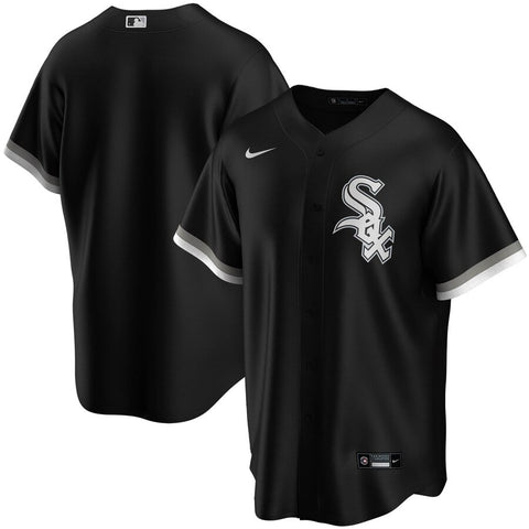 NIKE Men's Chicago White Sox Black Alternate Replica Jersey