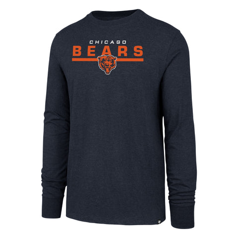 Chicago Bears Navy End Line Long Sleeve Club Tee By '47 Brand