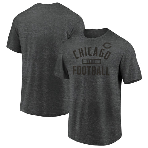 Men's Chicago Bears Charcoal Battle Pill Tee