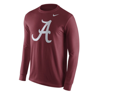 Alabama Crimson Tide Nike School Logo Performance Long Sleeve T-Shirt