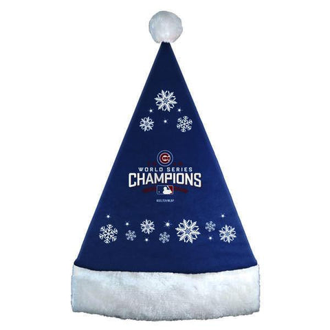 Chicago Cubs 2016 World Series Champions Snowflake Hat