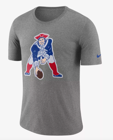 Nike Men's New England Patriots Historic Crackle Tri-Blend Gray T-Shirt