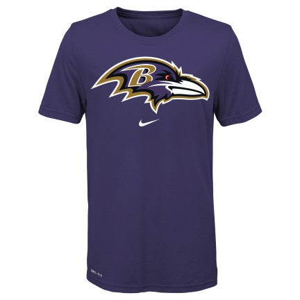 Youth Baltimore Ravens NIKE Orchid Essential Logo Tee