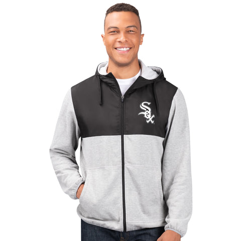 Men's Chicago White Sox Cotton Poly Full-Zip Jacket