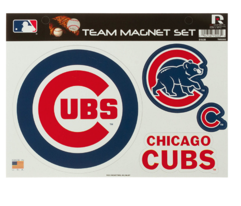 MLB Chicago Cubs Team Magnet Set