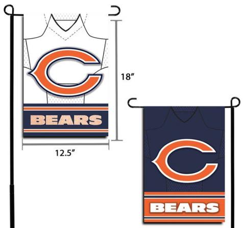 "NFL Chicago Bears 12.5"" x 18"" Double-Sided Jersey Foil Garden Flag"