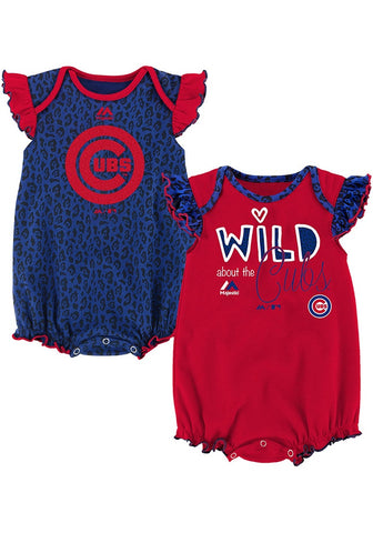 Infant Chicago Cubs Team Sparkle Creeper Set