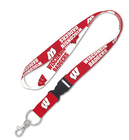 Wisconsin Badgers Double Sided Lanyard With Detachable Buckle By Wincraft