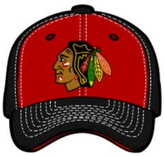 Chicago Blackhawks NHL Staple Red/Black Adjustable Snapback Hat By Zephyr