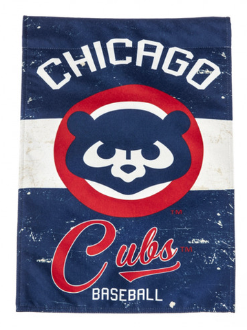 Chicago Cubs Vintage Vertical 28X44 Flag