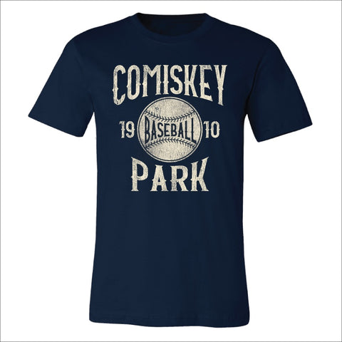 Men's Comiskey Park Navy Big league Baseball Tee