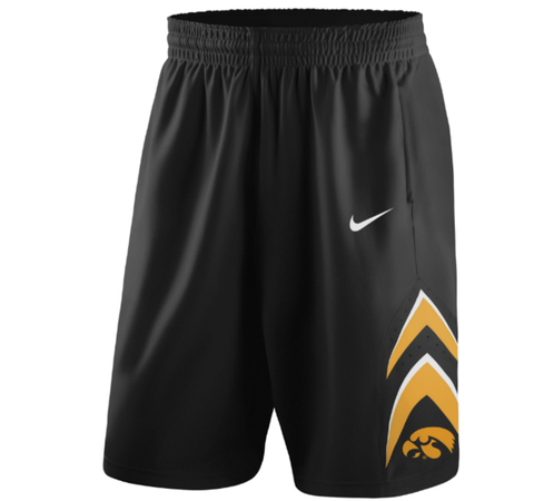 Nike NCAA Iowa Hawkeyes Black On Court Replica Basketball Shorts