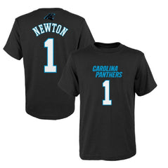 Cam Newton Carolina Panthers #1 NFL Youth Mainliner Name & Number T-Shirt