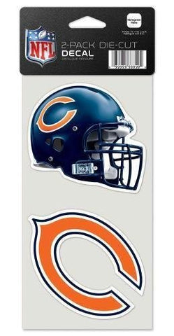 Chicago Bears 4X4 2-Pack Die Cut Decal