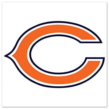 Chicago Bears Old Glory Reflective Decal