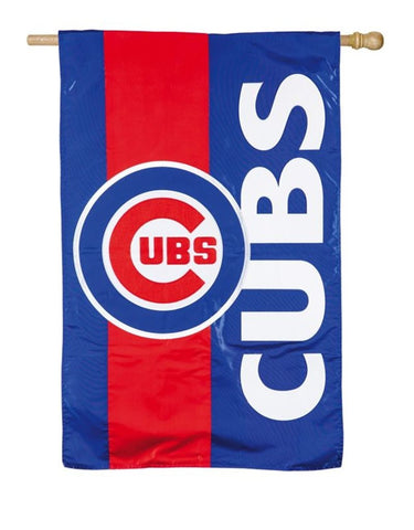 Chicago Cubs Embellish Vertical 28X44 Flag