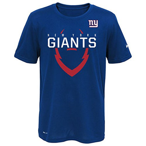 NIKE New York Giants Blue Youth Icon Performance T-Shirt