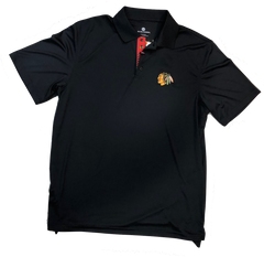 Chicago Blackhawks Helium 2 Polo By Levelwear-Black