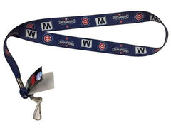 "Chicago Cubs 2016 World Series Champions ""W"" Lanyard By Aminco"
