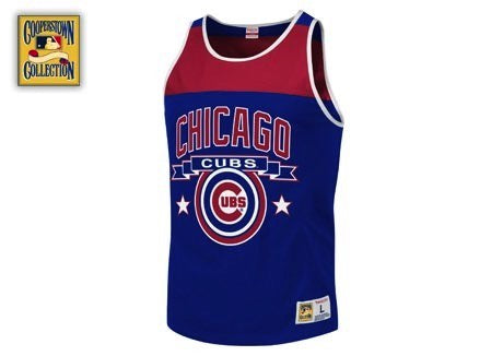 Men's Chicago Cubs Color Blocked Tank Top by Mitchell & Ness