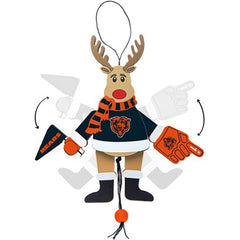 Chicago Bears Reindeer Sports Fan Christmas Ornament