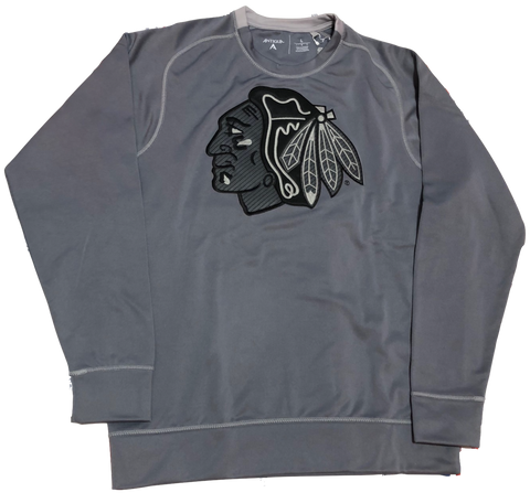 Chicago Blackhawks Volt Crew Neck Performance Sweatshirt By Antigua