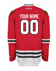 Custom Chicago Blackhawks Men's Premier Home Red Jersey