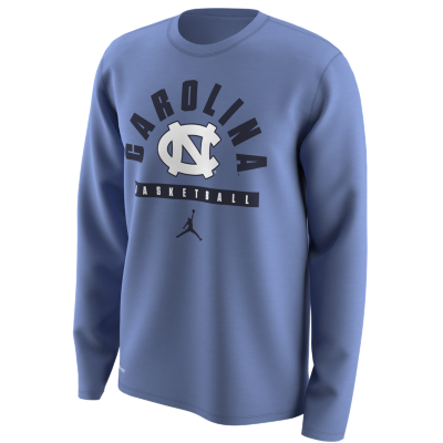 NIKE Men's North Carolina Tar Heels Basketball Jumpman Dri-Fit Long Sleeve Tee