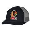 Men's Chicago Blackhawks CCM  1961 Logo Meshback Trucker Adjustable Hat