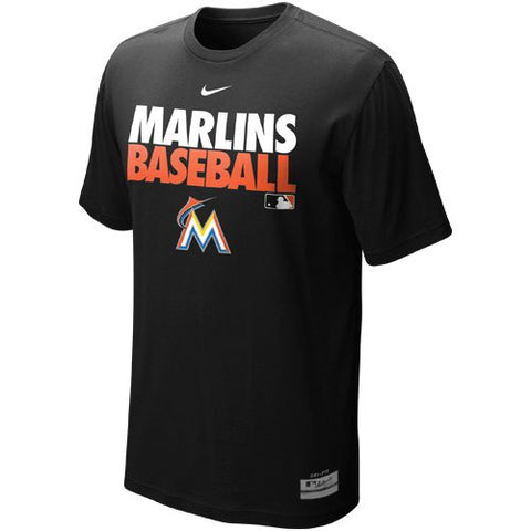 Nike Miami Marlins Graphic Dri-FIT Performance T-Shirt - Black