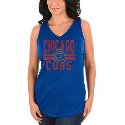 Chicago Cubs Majestic Women's Four Seamer Tank Top - Royal