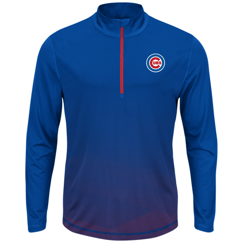 Mens Chicago Cubs Good & Approved 1/4 Zip Track Jacket