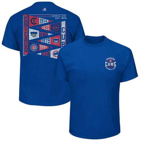 Men's Chicago Cubs Royal Wave the Pennant T-Shirt