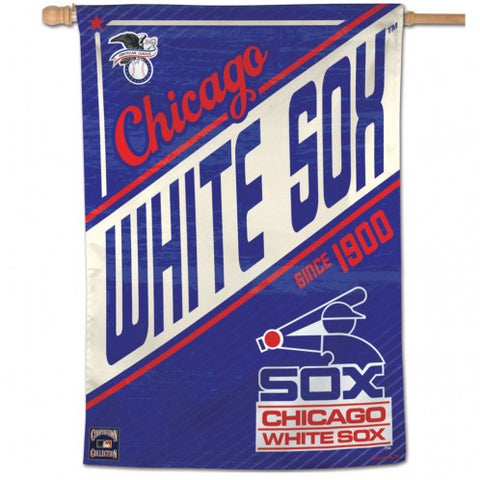 Chicago White Sox Cooperstown Collection 28X40 Vertical Flag By Wincraft