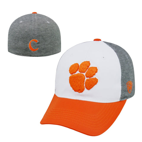 "Clemson Tigers NCAA Top of the World ""Hustle"" Stretch Fit Performance Hat"