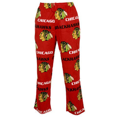 Chicago Blackhawks Adult Facade Micro Fleece Pants