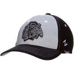 Chicago Blackhawks Black and Grey Night Game Flex Fit Hat